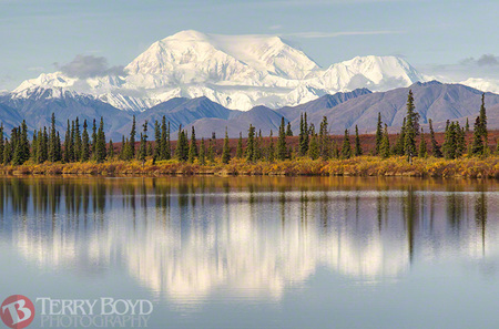 Denali Reflection from Broad Pass 2012