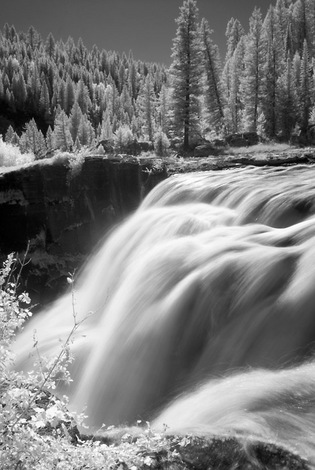 Lower Mesa Falls, Henry's Fork, Idaho ,2008 Infra Red image