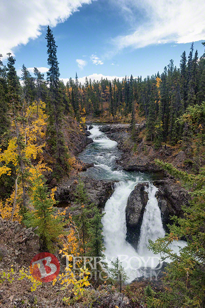 Pine Creek Falls , Lake Atlin , B.C.