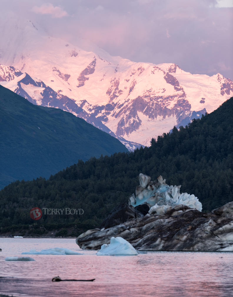 Alpenglow at Alsek Lake
