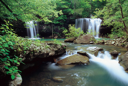 Twin Falls on Devils Fork, 2001