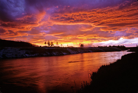 Grand Prysmatic Sunset, Yellowstone  2001