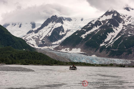 Rafting to Walker Glacier